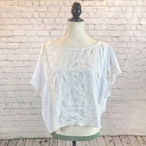 Anthro TINY Asymmetrical Drapey Boho Tee